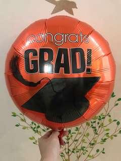 "18"" Congrats Grad Orange Foil Balloon"
