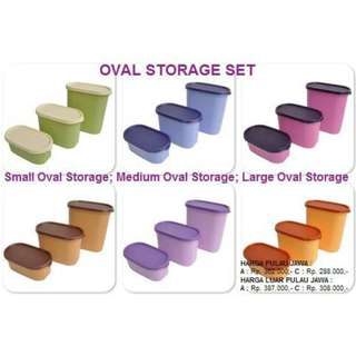 Oval Storage Set twin tulipware