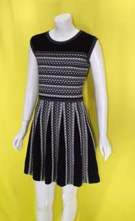 BCBG Stripe fit & flare knit dress