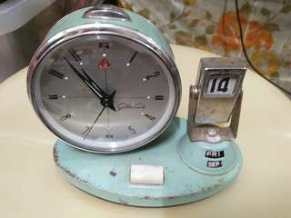 Old Antique Vintage Mecahnical Table Clocks