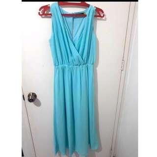 Sm woman dress light blue