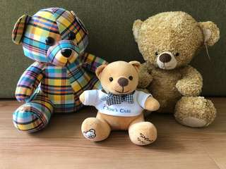 Trio of Teddy Bears