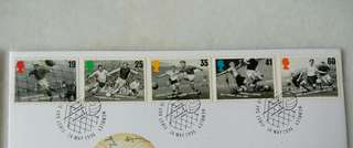 Great Britain UK England Football Legends Stamps & Special Postmark #2