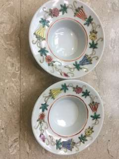 Vintage Chinese porcelain tea cups with saucer