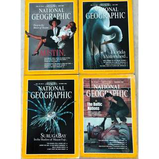 Vintage National Geographic Magazines (20 issues from 1990 -2010 )