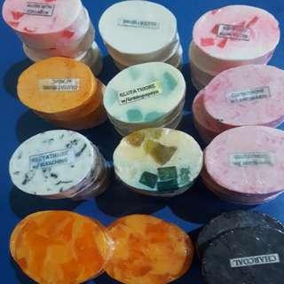 Oval whitening soap