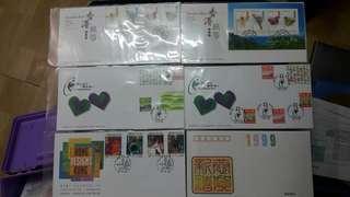 Hong Kong Post stamp 香港郵政 郵票套摺首日封香港風箏香港設計將心比心顧客稱心 共六個