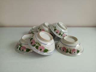60s Bowls height 6cm diameter 17cm unused mint condition 6pcs$48
