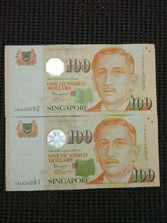3AA Sg $100 Tharman 2 runs