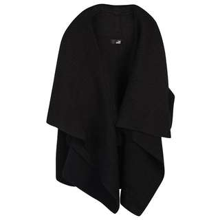 Black asymmetrical knitted cardigan