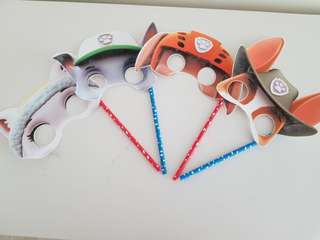 Paw patrol photo props/masks