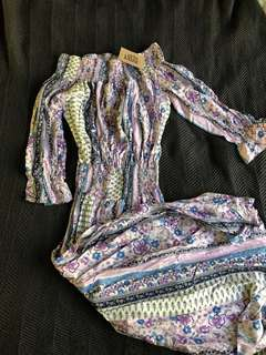 New still with tags Erin Lousie boho off the shoulder dress.!