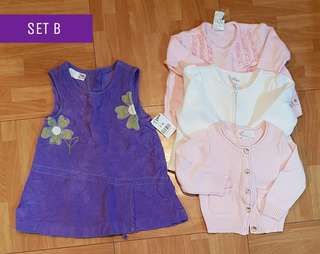 Set B 35pcs pre-loved kidswear 0-2t