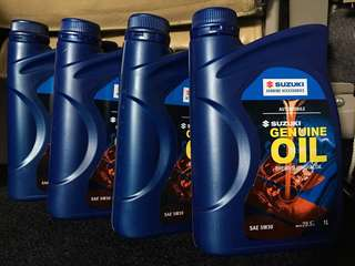 Suzuki Genuine Oil 5w-30 for APV Celerio Alto SX4 Jimny Grand Vitara Ertiga alt mitasu pertua zic mobile 1 royal purple