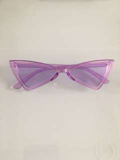 Purple clear retro sunnies