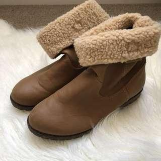 Faux Wool Booties ♡ misskimjavier
