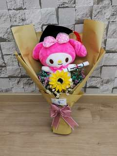 Graduation bouquet with Meloday