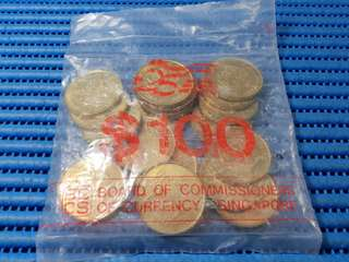 20X 1990 Singapore 25 Years of Independence $5 Commemorative Coin BCCS