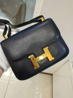 Hermes constance 23 in navy blue