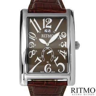 NOW only P4335! EVERYTHING IS 50% OFF LISTED PRICE!!! Seller returning to US, EVERYTHING MUST GO!!!! RITMO Mundo Swiss Quartz Stainless Steel and Leather (Brown)