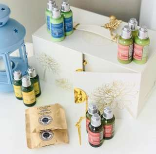 BN L'Occitane Travel Set Hotel Collection (Shampoo / Conditioner / Shower Gel / Body Lotion / Soap)