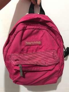Heartstrings mini backpack pink