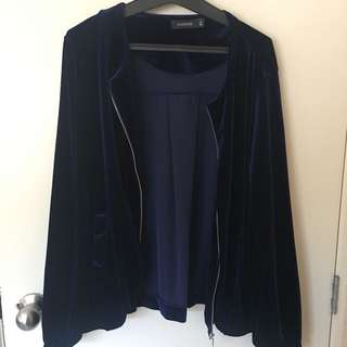 glassons velvet bomber jacket
