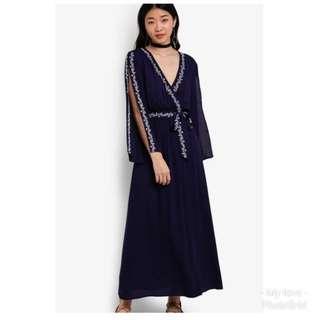Zalia embroided maxi dress