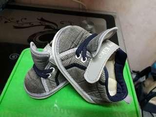 Baby Kiko Boy Textile Shoes-grey