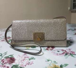 MICHAEL KORS Pale Gold Bag cum Clutch