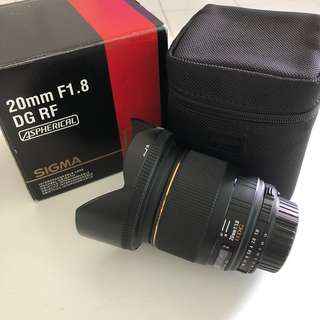 Sigma 20mm F1.8 DG RF Aspherical