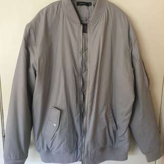 glassons bomber jacket (grey)