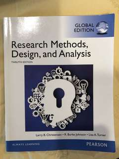 Research Methods, Design and Analysis 12th ed Christensen, Johnson and Turner