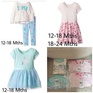 SALE 60% Off - 12-18/18-24 Mths BNWT The Children's Place baby girls 2pc set and dress