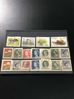 Australia Stamp- 18 Used Stamps