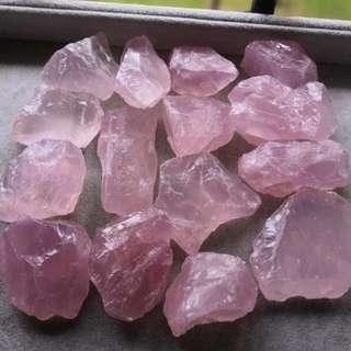 Top quality rose quartz /about 50gram each