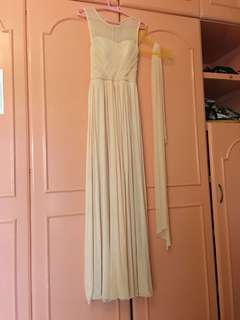 For sale: pastel peach gown