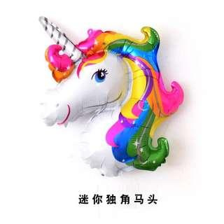 C167 birthday party foil balloon unicorn head