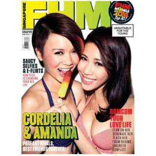FHM Singapore - June 2014 Issue - FHM Models Top 10 finalists Cordelia & Amanda