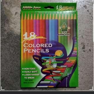 全新 木顏色筆18色