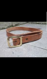 Oldblue jeans belt steer hide