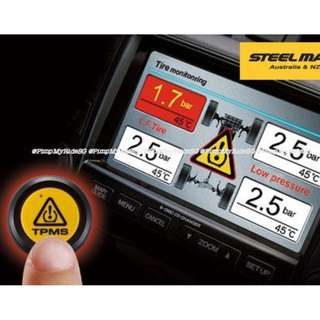 STEELMATE Brand TPMS (Tyre Pressure Monitoring System) External Sensors That Integrates Into Your Multi Media Player Display! Price Inclusive of Installation!  PROMOTION PRICE NOW AT $238!! LAST 10 SETS!! WHILE STOCKS LAST!!!