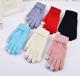 Knit Gloves Touch Screen