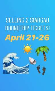 2 Siargao Roundtrip Ticket