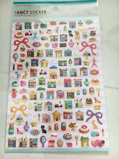 Stickers pastry and shophouses
