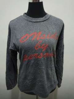 ONSIDE by PERSONS Grey Sweater Jacket