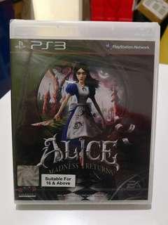 PS3 Alice Madness Returns