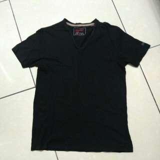 Esprit 黑色V領男款上衣
