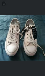 Leather Converse CT OX in Pale Putty