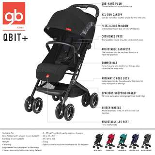 LUXURY TRAVEL STROLLER gb QBIT+ ALL COLORS AVAILABLE for PREORDER now😁🤸♀️🤹♀️🎈